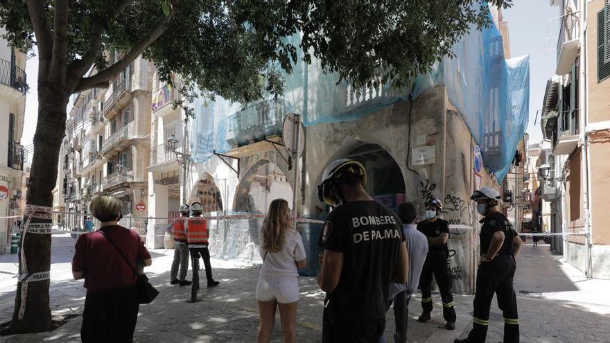 Historisches Haus in der Altstadt von Palma eingestürzt