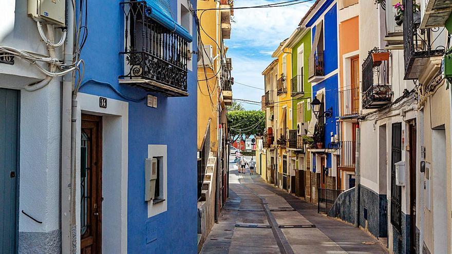 Una calle sin fibra en La Vila Joiosa