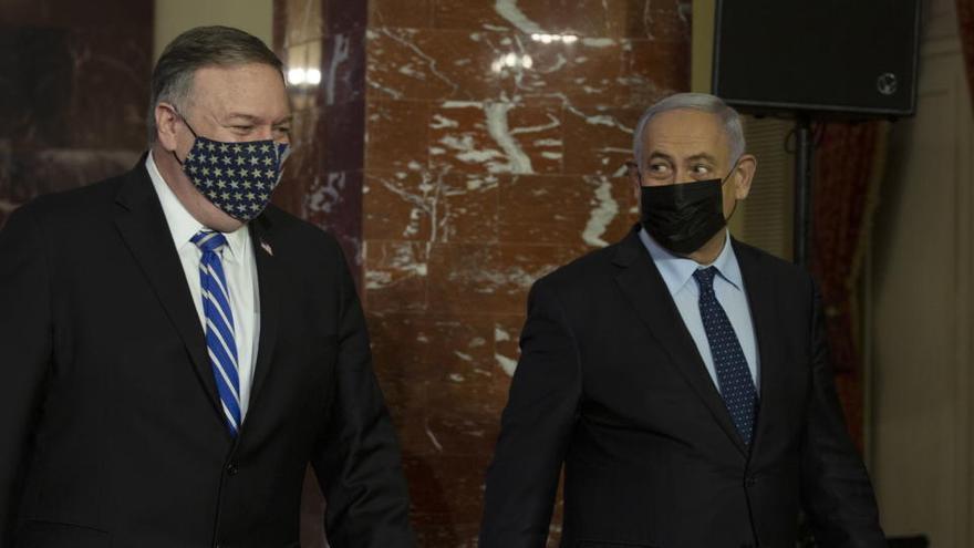 Pompeo, primer secretario de Estado de EEUU que visita una colonia israelí en Cisjordania