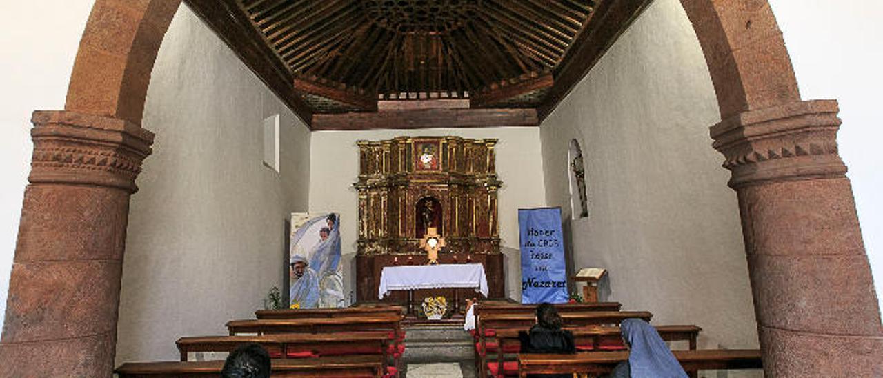 Aspecto interior de la ermita de San Cristóbal, en La Laguna.