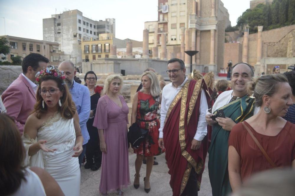 Encendido del Fuego Sagrado y pregón de la alcaldesa de Cartagena