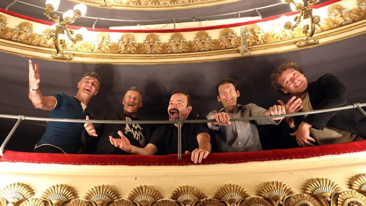 El quinteto b vocal en el Teatro Principal de Zargaoza.