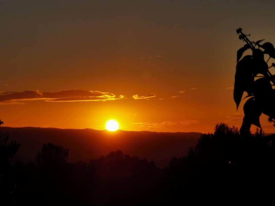 El Pont de Vilomara. Bonica primera posta de sol de la tardor.