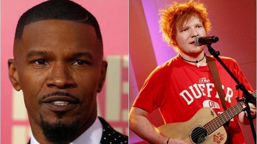 """Jamie Foxx: """"Tuve a Ed Sheeran durmiendo en mi sofá durante seis semanas"""""""