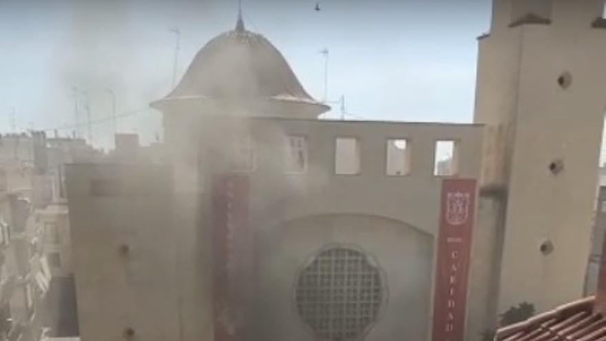 Incendio en la sacristía de la Parroquia de San Juan Bautista de Elche
