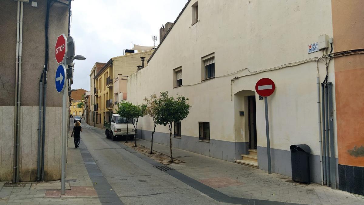 El carrer Tarongeta, on es va produir l'intent de robatori violent de Palafrugell