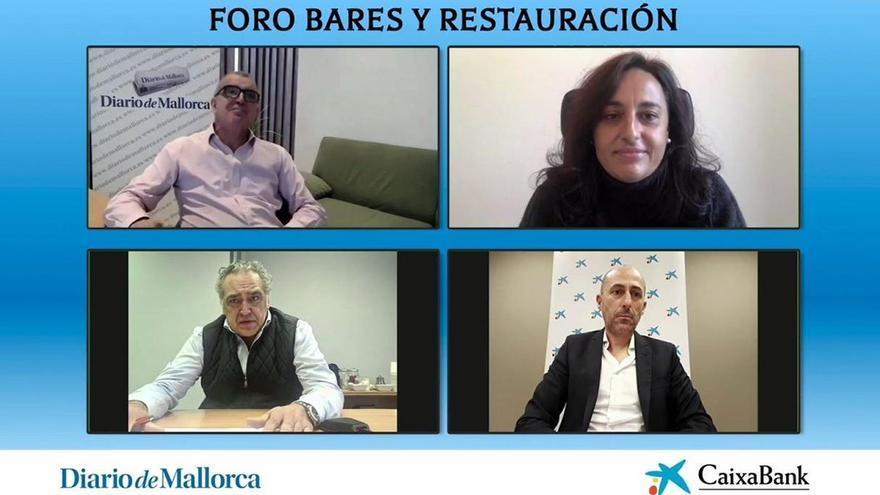 Foro digital sobre bares y restauración que organizó Diario de Mallorca con el patrocinio de CaixaBank