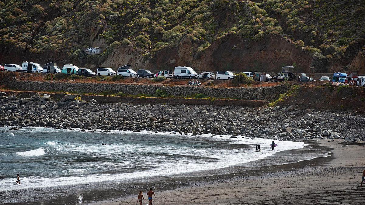 Playa de Almáciga, en Santa Cruz de Tenerife.