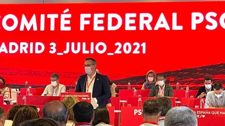 """Diego Conesa: """"En el Comité Federal se ha demostrado la apuesta del PSOE por la esperanza y el futuro"""""""