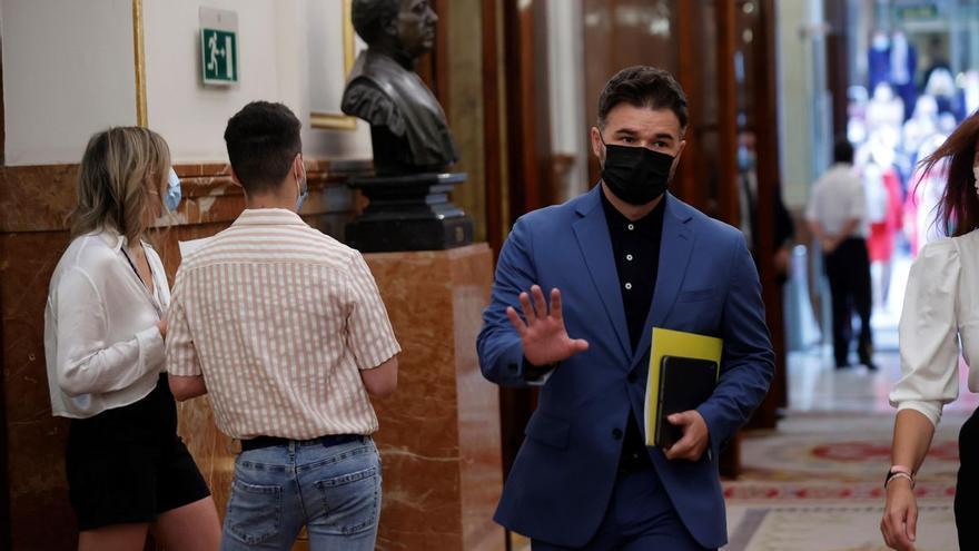 """Rufián a Sánchez: """"También dijo que no habría indultos, denos tiempo"""""""