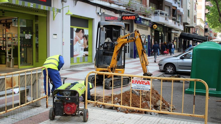 El Ayuntamiento de Zamora inicia las obras de iluminación y aceras en Tres Cruces