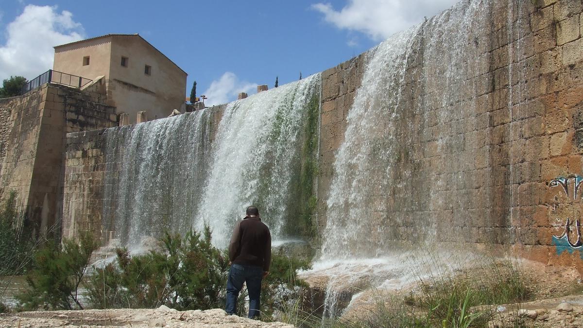El río Montnegre-Seco a su paso por el Assut de Sant Joan, en Mutxamel, en una imagen de archivo