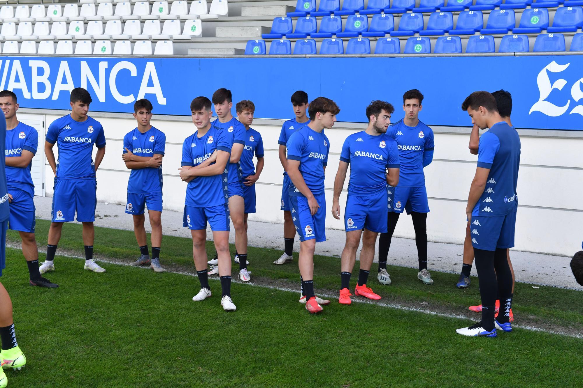Los juveniles del Dépor inician su aventura en la Youth League
