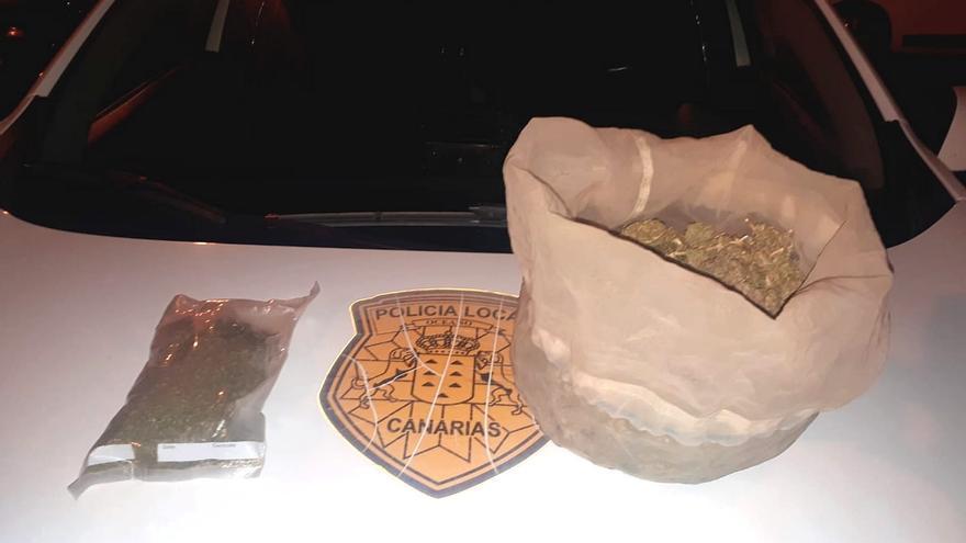 Un joven acaba detenido con más de medio kilo de marihuana en Madera y Corcho