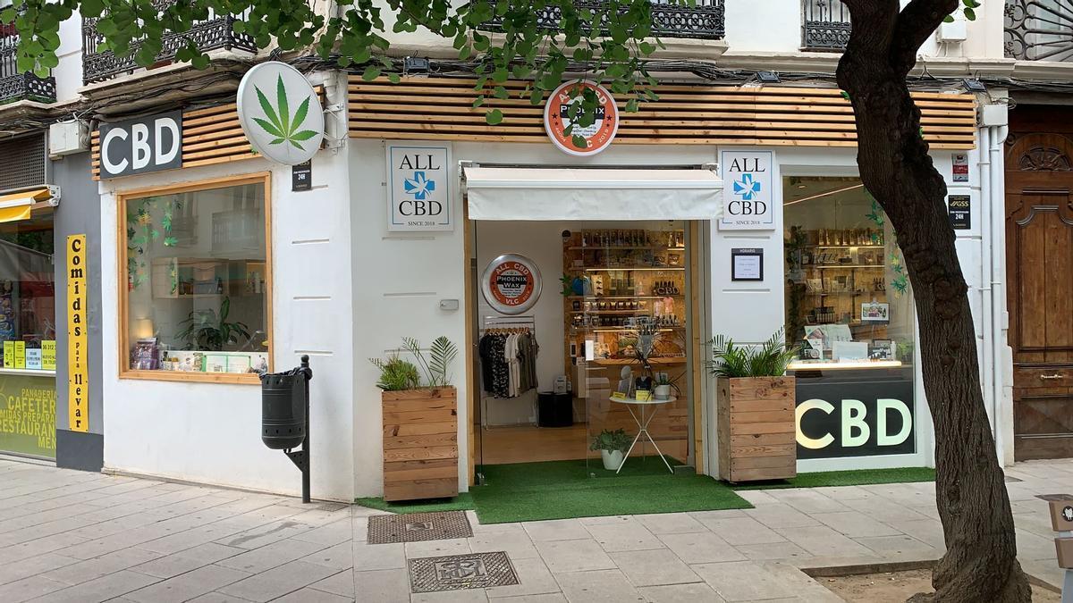 Una tienda de CBD en València