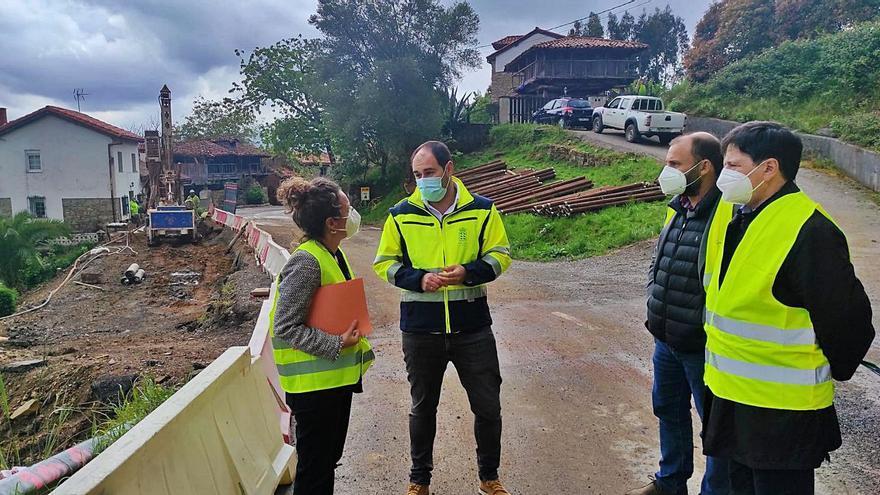 La obra del tablero del puente de Quinzanas (Pravia) comienza en mayo