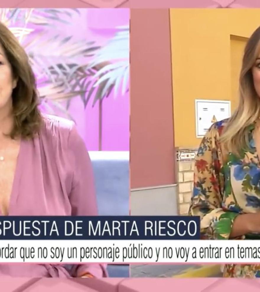 Marta Riesco rompe su silencio sobre su supuesta relación con Antonio David con un comunicado en 'Ana Rosa'