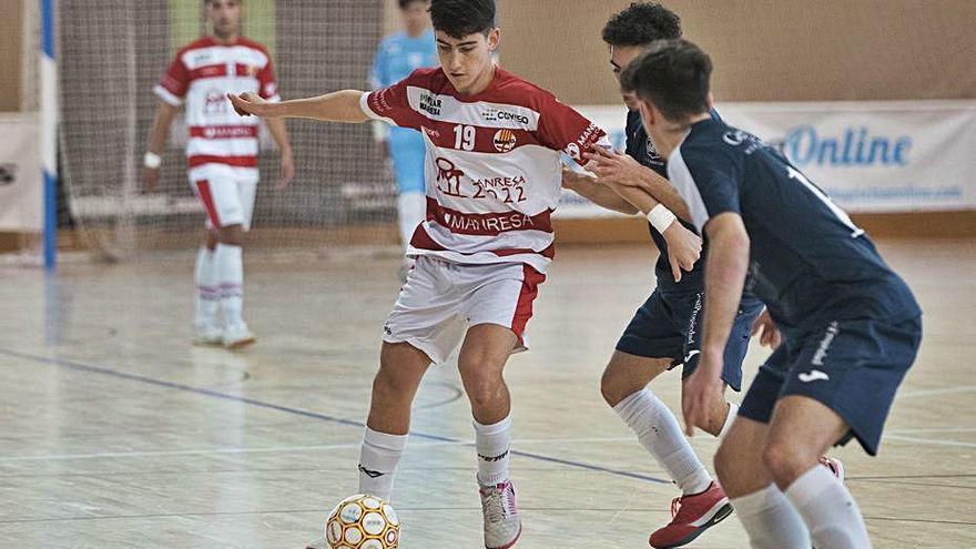 El Manresa FS supera un gol rebut a l'inici i treu un punt de Mallorca