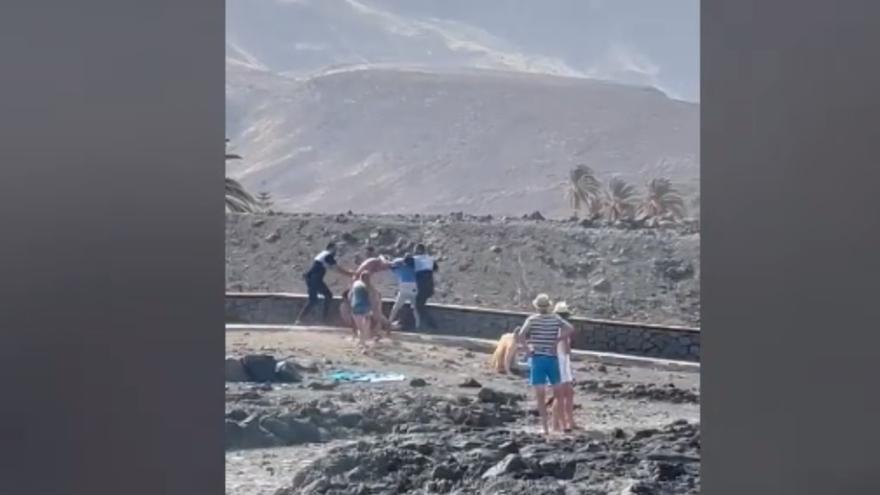 Nuevas imágenes muestran la dureza de la pelea del sábado en Agaete