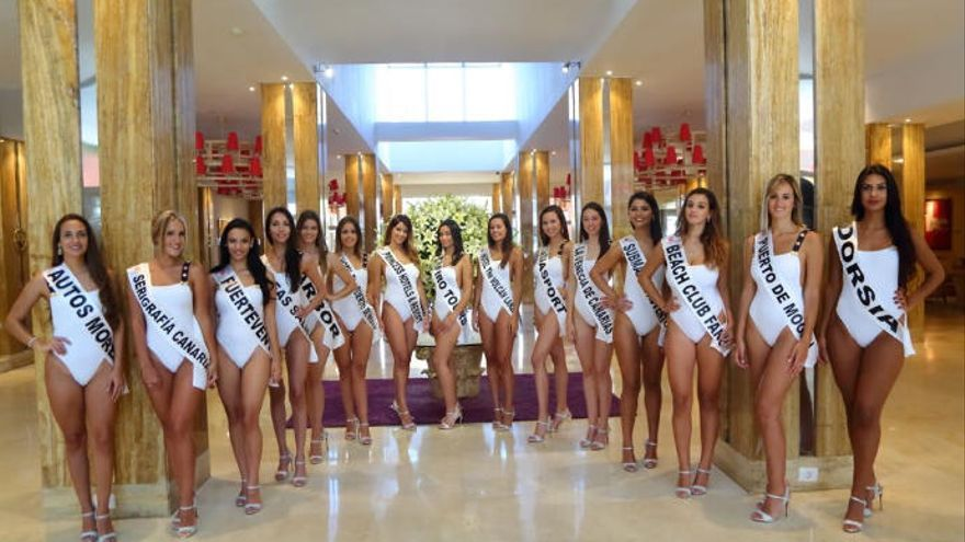 Las candidatas a Miss Universo Las Palmas