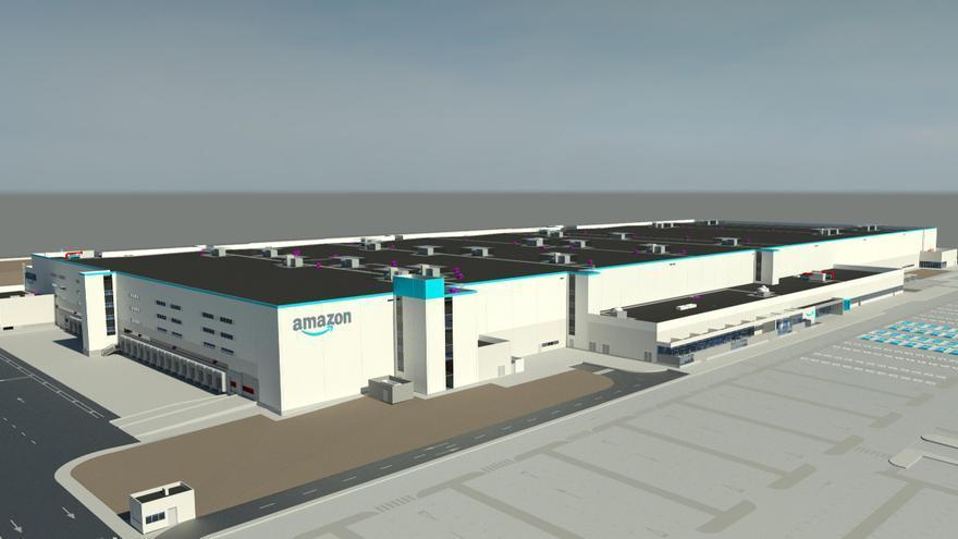 Así son los centros de última generación de Amazon, como el de Bobes, que abren en 2022