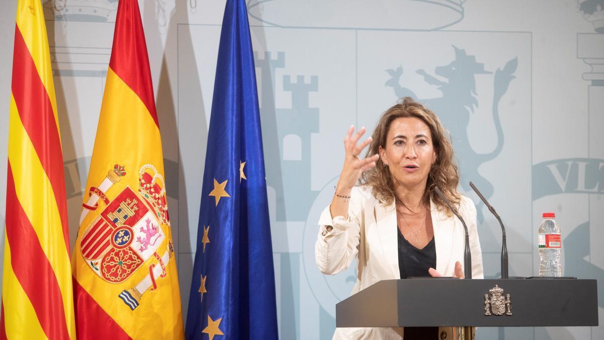Raquel Sánchez. la nueva ministra de Transportes.