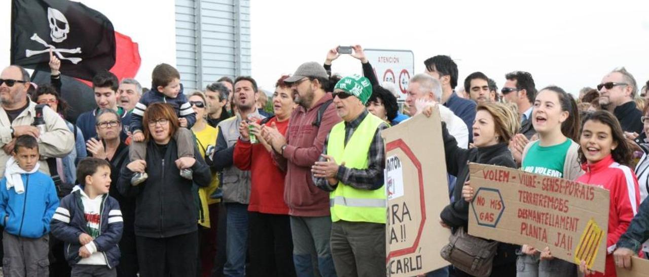 Foto de archivo de protesta de vecinos de la zona norte de Castelló contra el Castor.