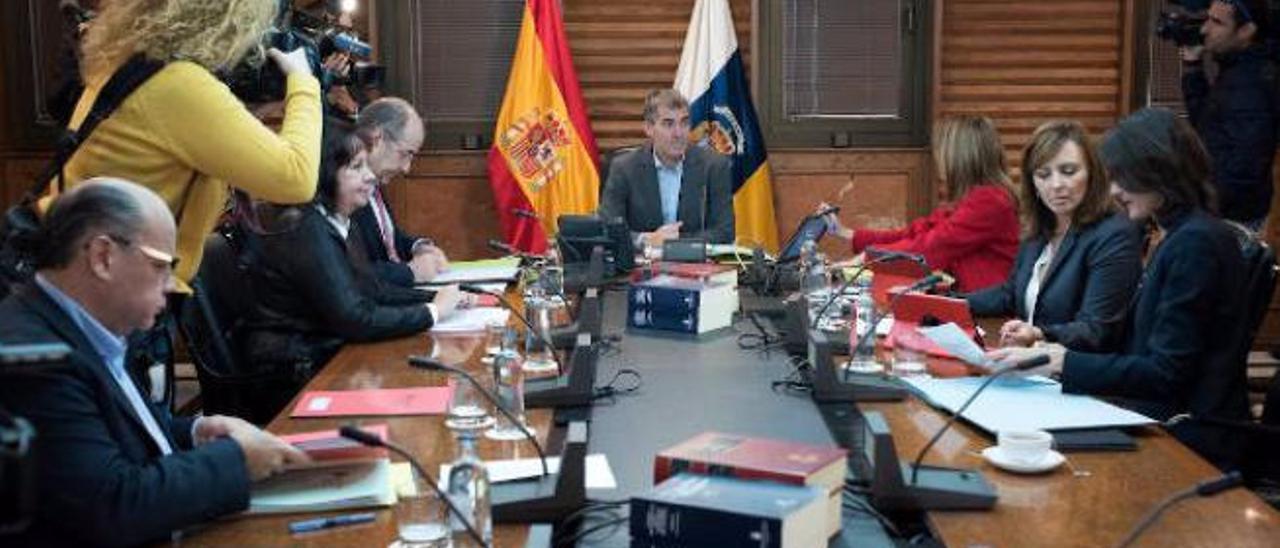 Último Consejo de Gobierno, el pasado 26 de diciembre, sin los consejeros socialistas.