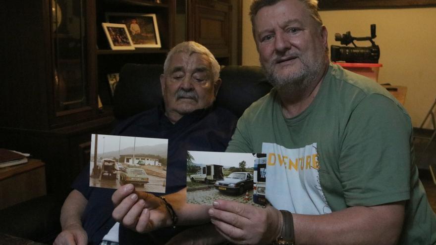 Antonio Aguilera i el seu fill Esteve Aguilera, tots dos de Capmany, detallen com va ser la seva experiència com a treballadors de l'autopista a la Jonquera durant molts anys