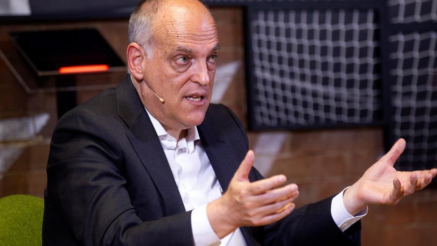 """Tebas anticipa un """"cambio de estrategia"""" en la venta de los derechos televisivos de LaLiga"""