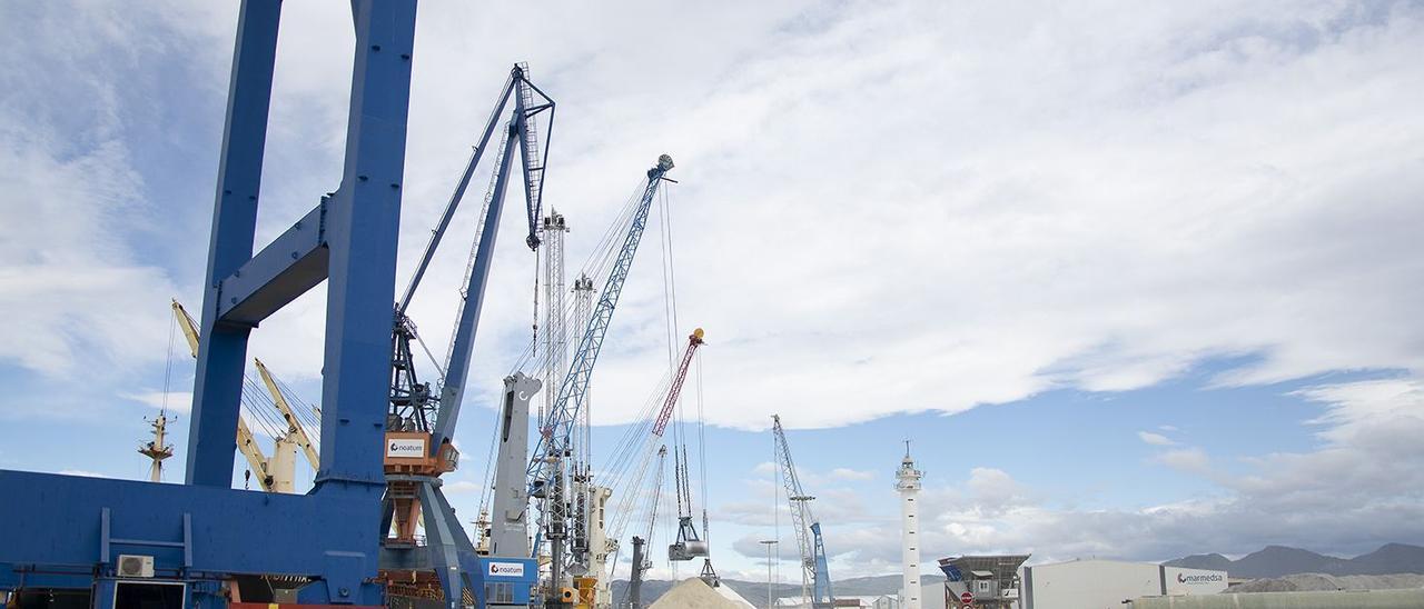 Un momento de trabajo en los muelles de PortCastelló, entidad que realizará importantes inversiones en el 2022.