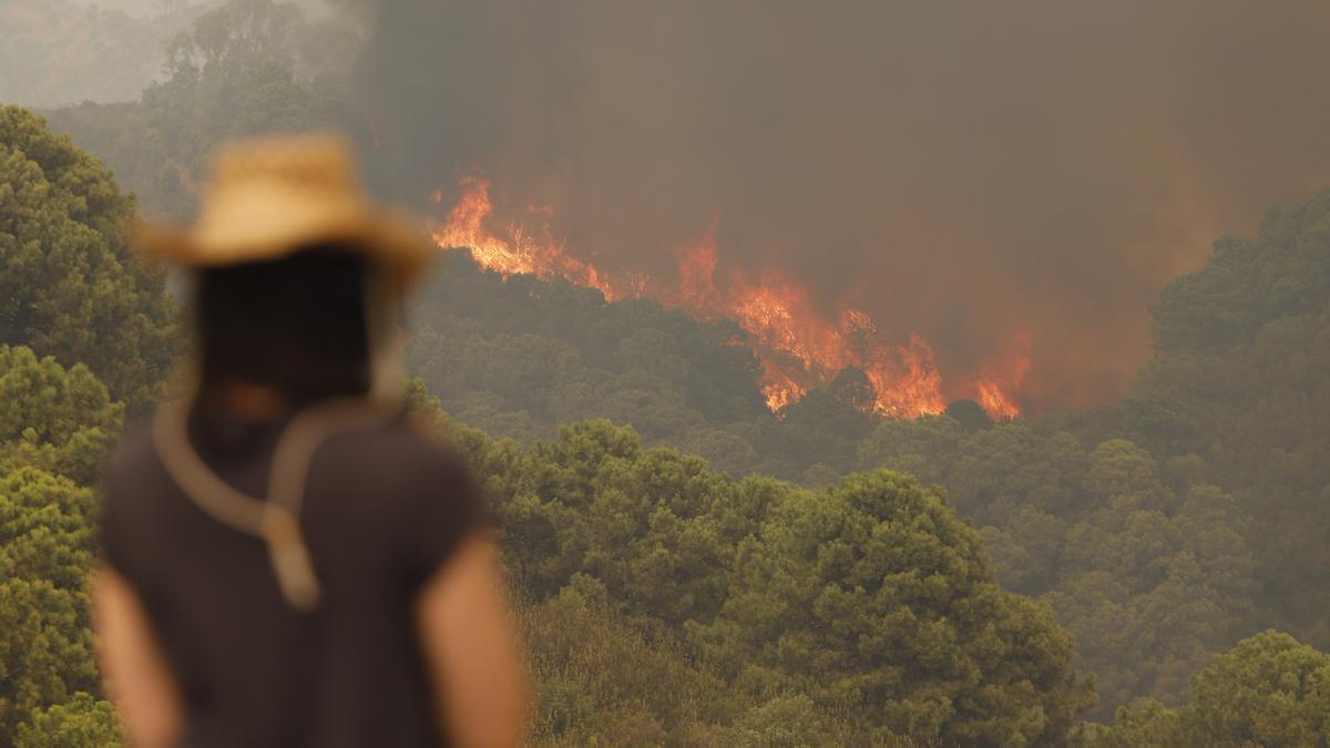 El incendio en Sierra Bermeja está todavía lejos de controlarse.
