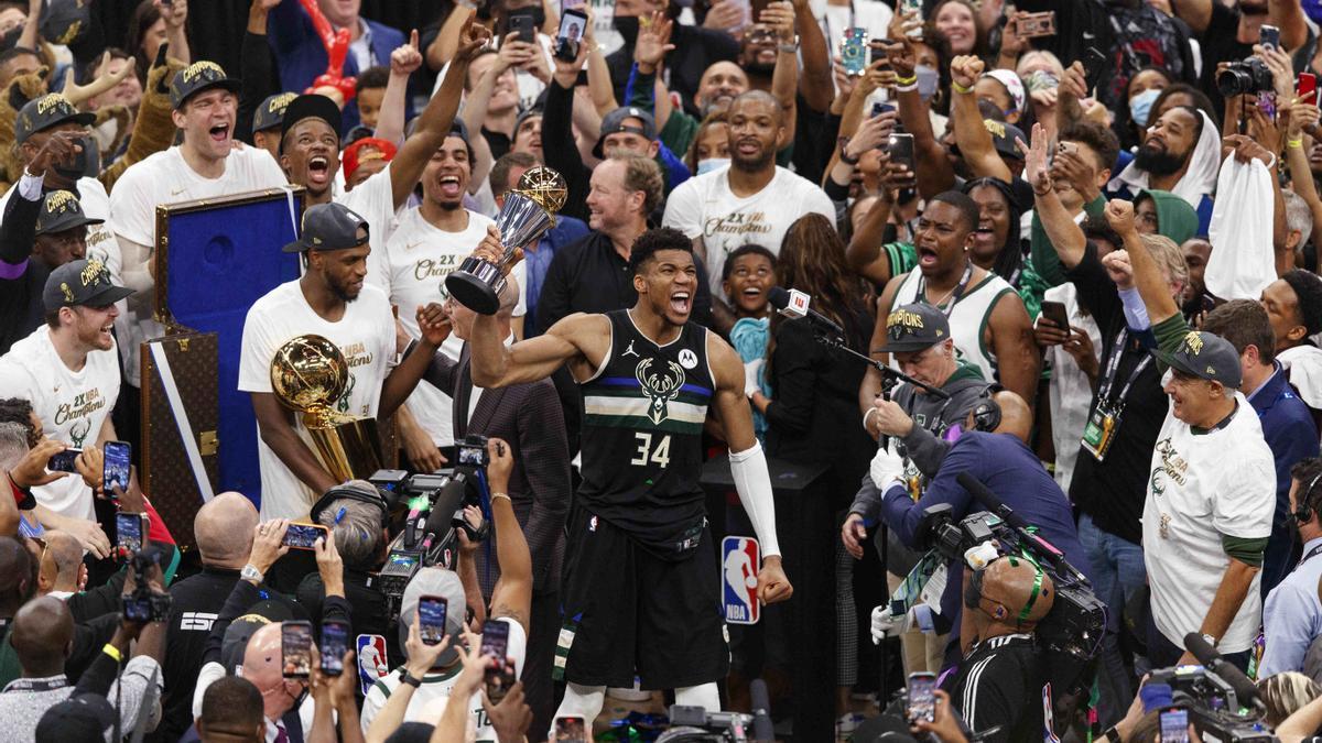 Giannis Antetokounmpo lideró a los Bucks hacia el anillo de la NBA.