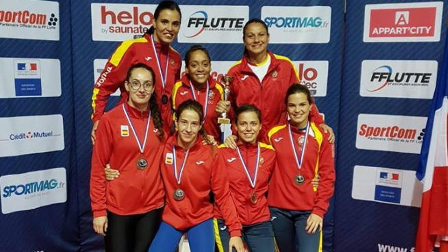 Estefanía Ramírez y Eugenia Bustabad,  bronce con la selección española en Niza