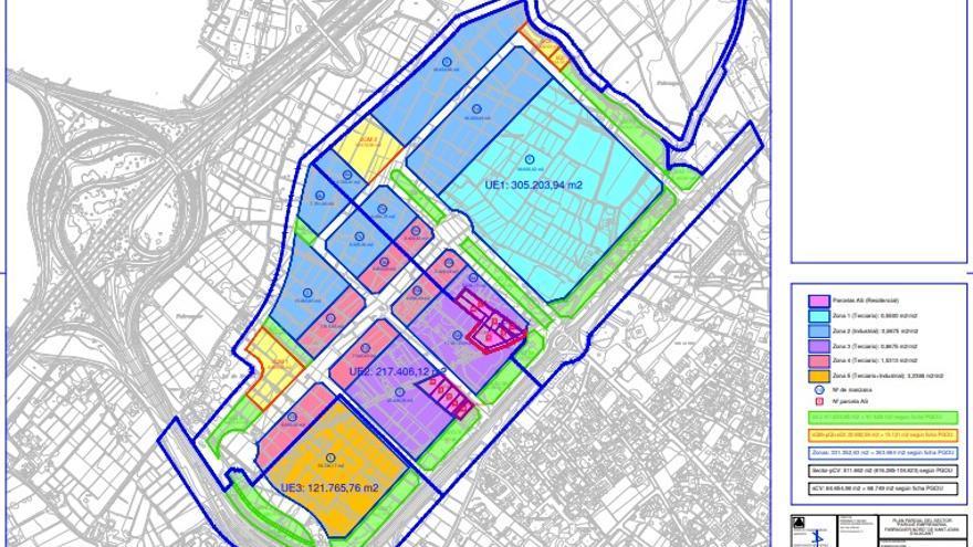 Compromís llevará a los tribunales el PAI del Parque Empresarial de Sant Joan