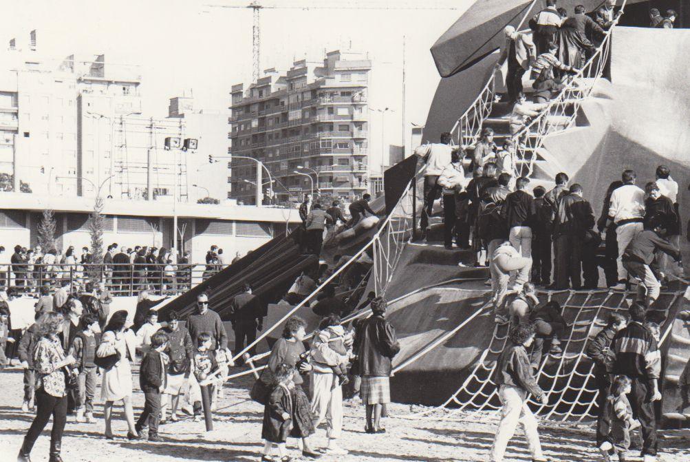 Así fueron las obras del Parque Gulliver en València