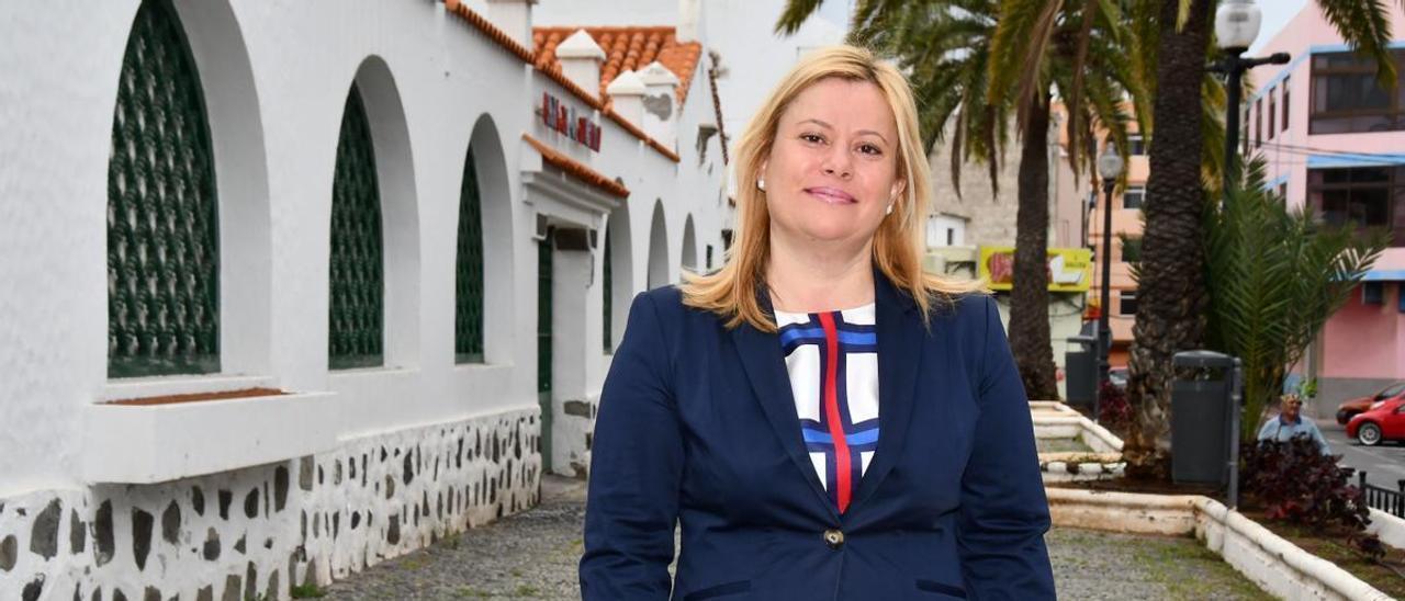 Mónica Muñoz, presidenta de la asociación de empresarios de la Zona Comercial Abierta de San Gregorio.