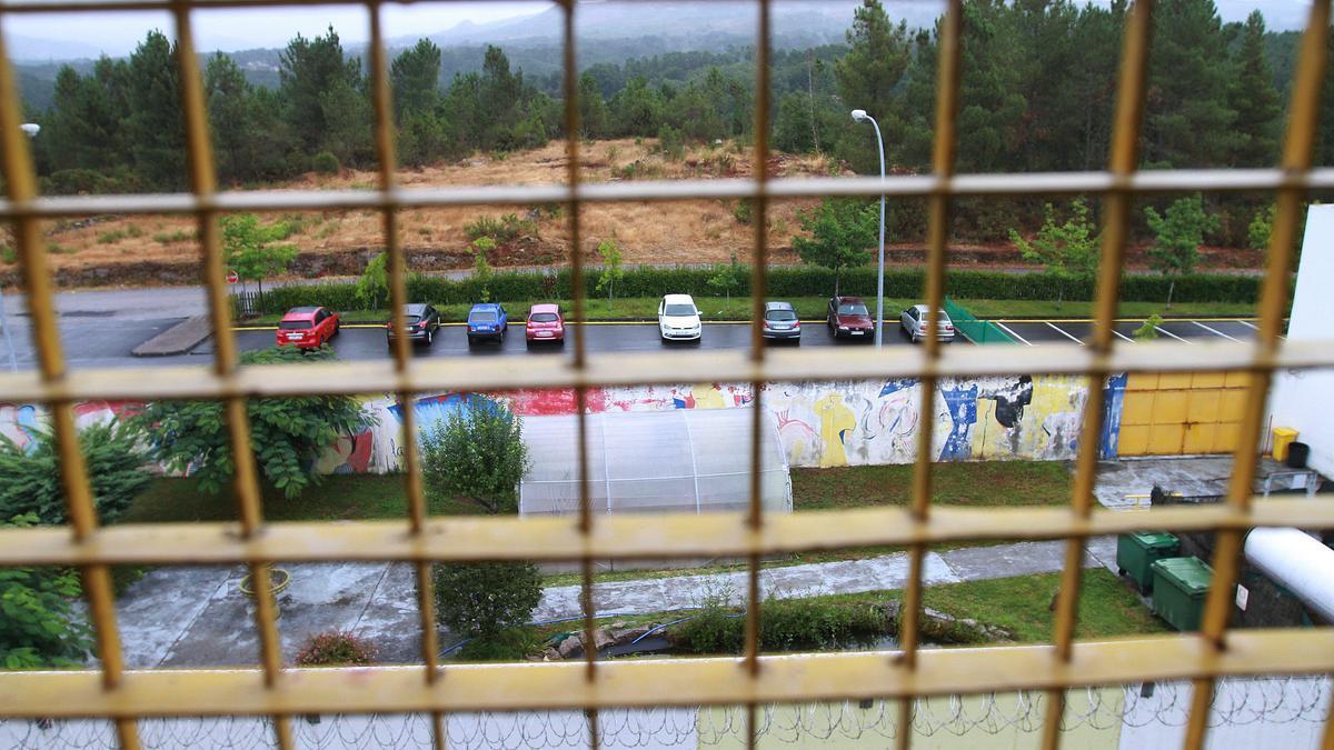 Vista desde el interior de un módulo del centro penitenciario de Pereiro. // IÑAKI OSORIO