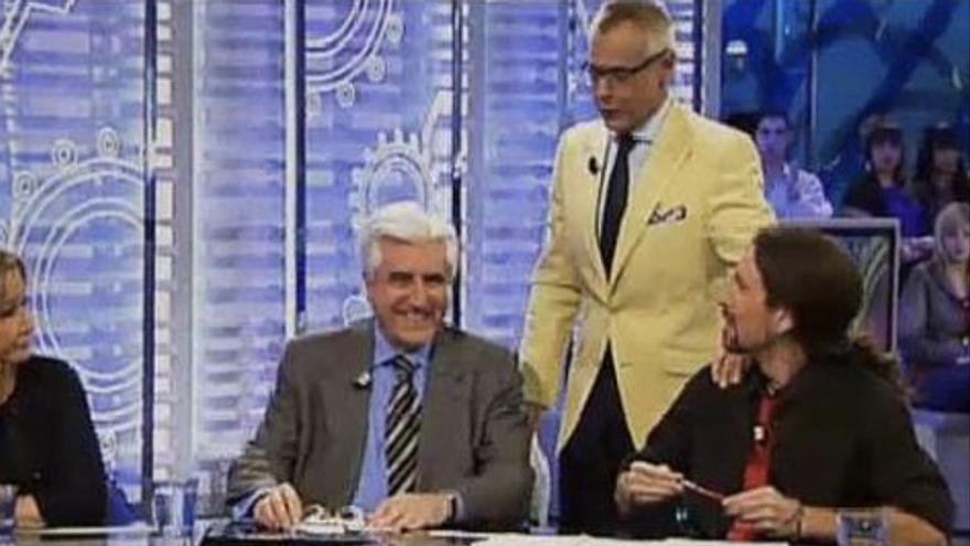 Así fue el gran debut televisivo de Pablo Iglesias: en Telecinco y con un Jordi González que no sabía ni su nombre
