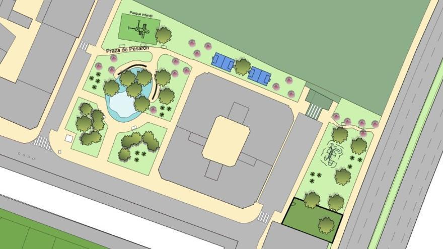 Espacios deportivos y zona para perros en la reforma del parque de Luis Otero