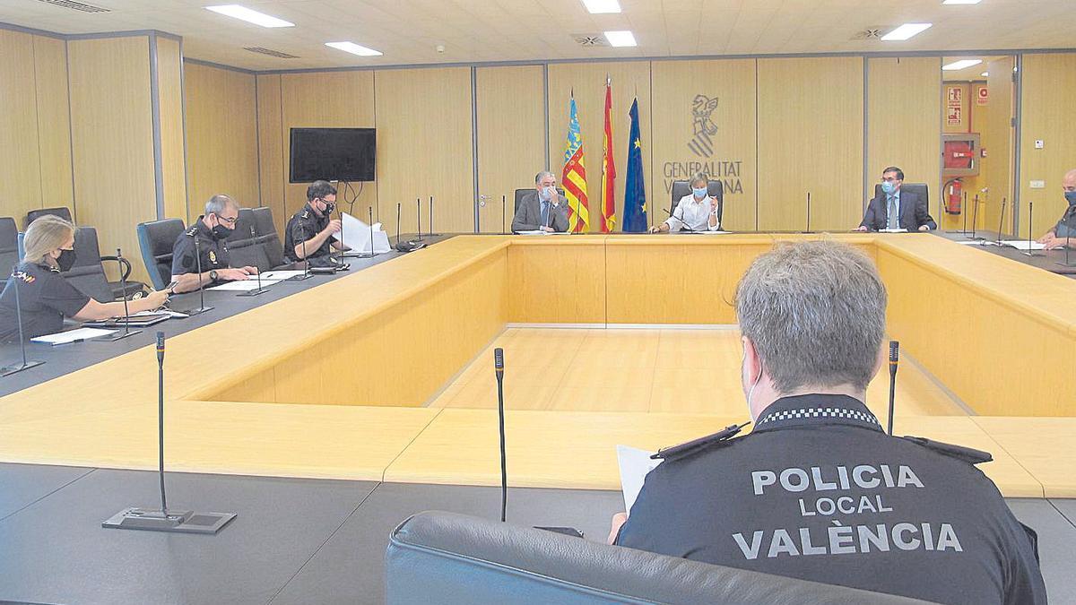 Reunión de la comisión provincial de la policía judicial con jueces y fiscales.
