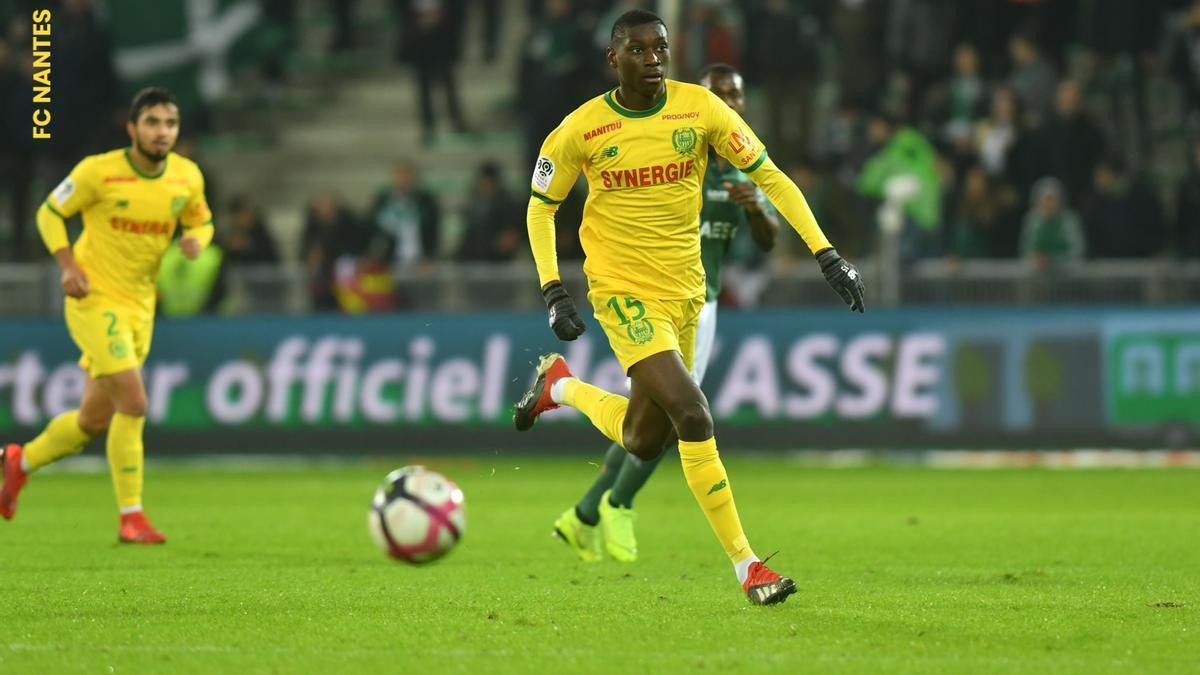 Randal Kolo, durante un partido con el Nantes.
