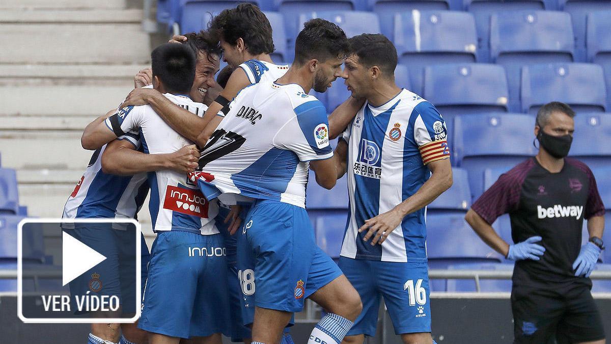 El Espanyol se ilusiona con una victoria sobre un Alavés con uno menos