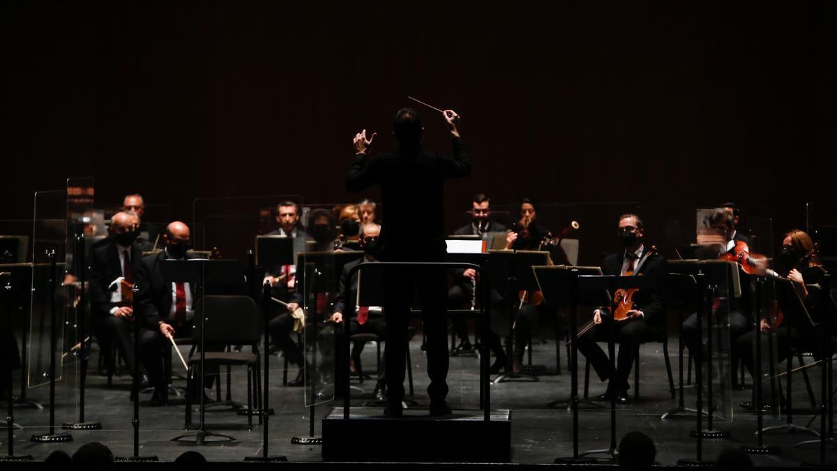 La Orquesta de Córdoba, durante el concierto.
