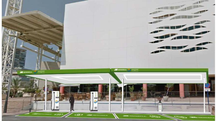 Iberdrola gestionará durante 15 años dos zonas de recarga de vehículos eléctricos en la zona pública del Puerto de Alicante
