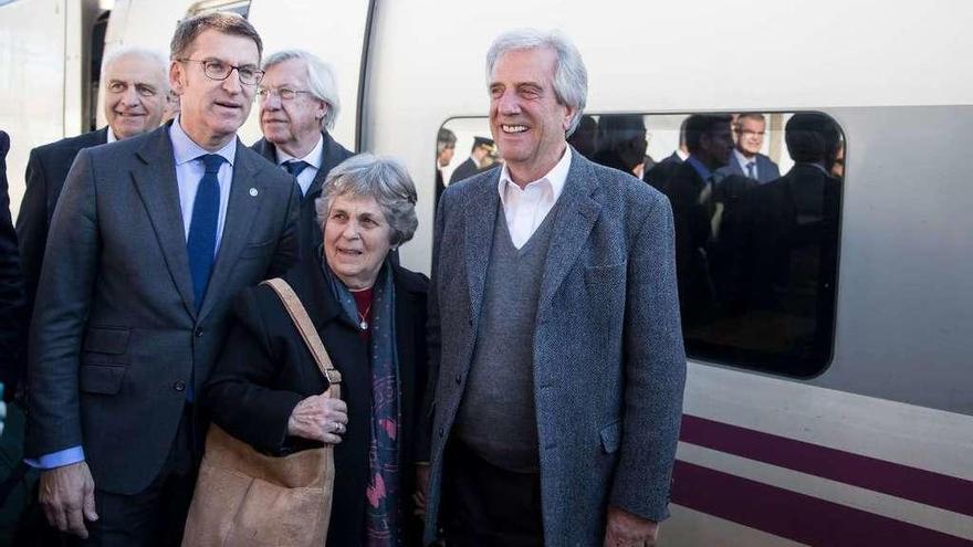 Llegada en tren a la tierra de sus abuelos gallegos
