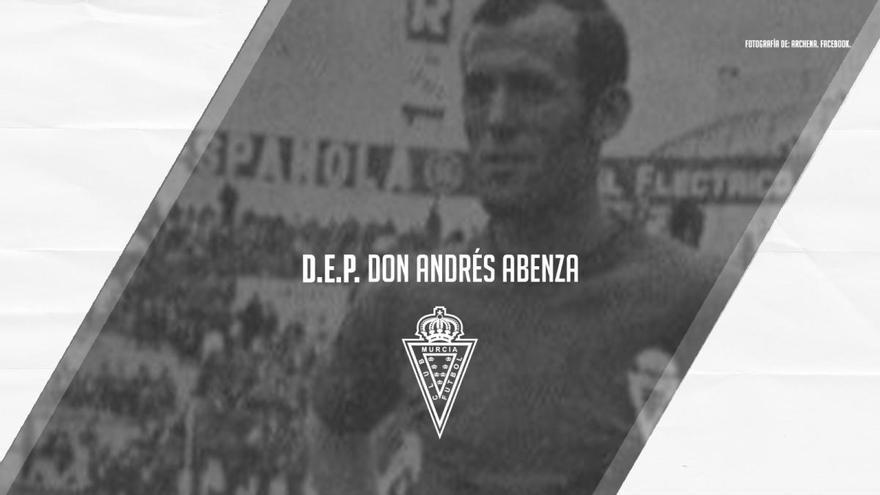 Fallece Andrés Abenza, histórico del Murcia de los años 60