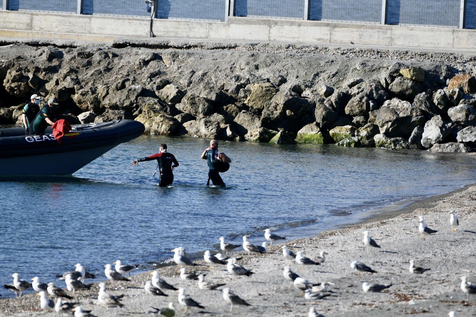 Ceuta vive uno de los episodios de entrada masiva de inmigrantes más numeroso de los últimos años