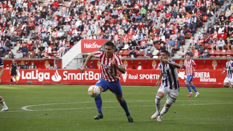 EN DIRECTO: El Sporting cede ante el Valladolid la primera derrota en El Molinón (1-2)