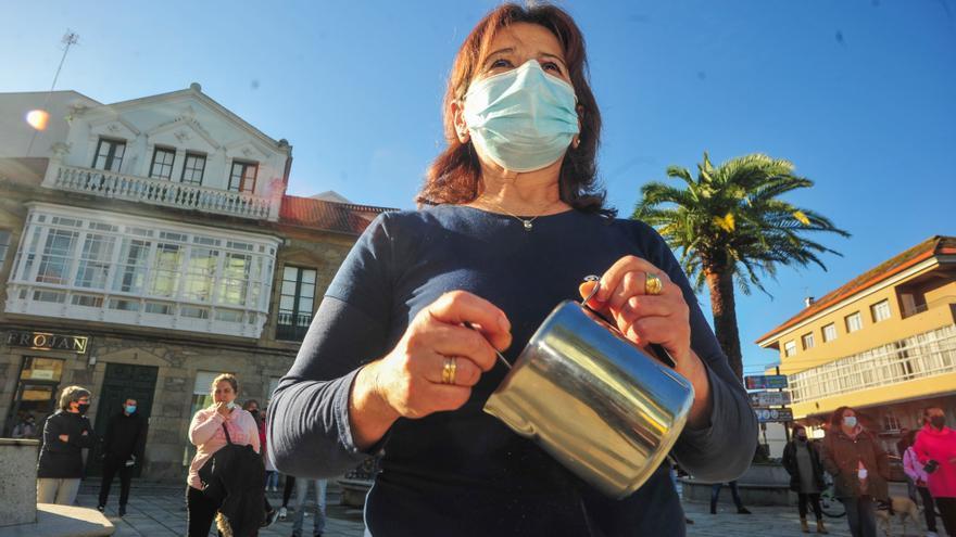 """La hostelería de Cambados se manifiesta ante la """"asfixia"""" por la medida de cierre"""
